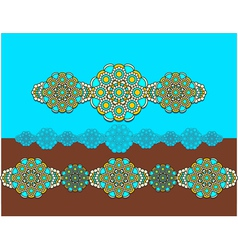 East Ornament with turquoise in blue yellow vector image vector image