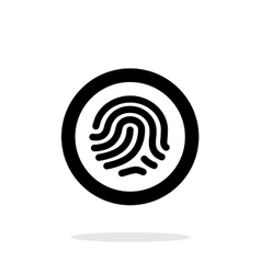 Fingerprint scanner icon on white background vector