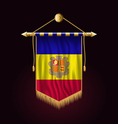 Flag of andorra festive vertical banner wall vector