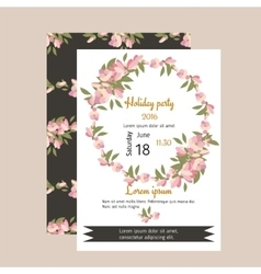 Floral magnolia retro vintage background vector image vector image