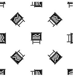 Growing chart presentation pattern seamless black vector