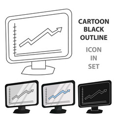 Growing graphic icon in cartoon style isolated on vector