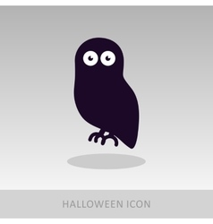 Halloween owl icon vector