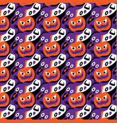 Halloween seamless pattern design vector