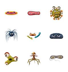 Illness icons set cartoon style vector