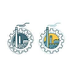 Industry industrial enterprise factory logo or vector