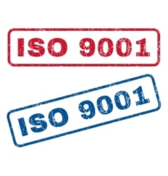 Iso 9001 rubber stamps vector