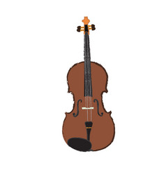 Isolated woden violin vector