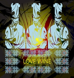 Love wine and tasting card vector image