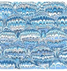 Marbling blue vintage background vector image