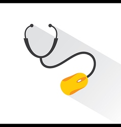 Medical technology concept with stethoscope vector