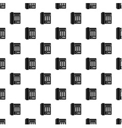 Office business keypad phone pattern vector