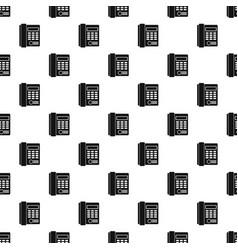 Office business keypad phone pattern vector