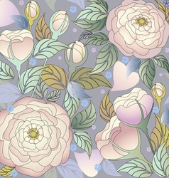 pattern roses2 vector image vector image