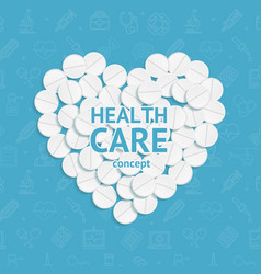 realistic detailed 3d health care concept medical vector image vector image