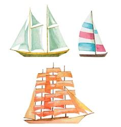 sailboats vector image