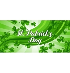 Saint patricks day banner green clover shamrock vector