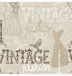 Seamless Vintage background with retro dummy vector image vector image