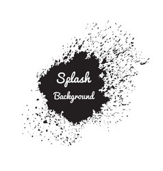 Splash watercolor background vector