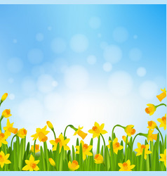 spring time poster vector image vector image
