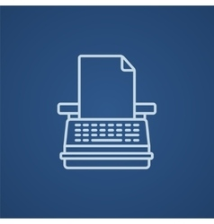 Typewriter line icon vector