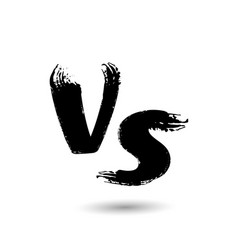 Versus sign vs letters isolated on white vector