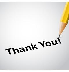 Write text thank you vector