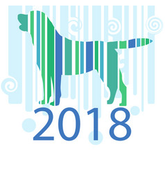 year of the dog new year card vector image vector image