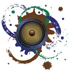Grunge audio speaker3 vector