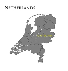 Contour map of netherlands 01 vector