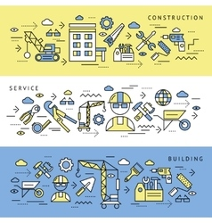 Construction Service Banners Set vector image