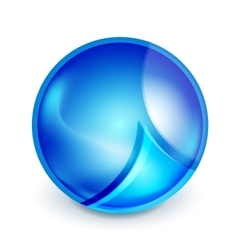 Blue hi-tech globe symbol vector image
