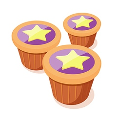 Icon cup cake vector