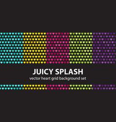 heart pattern set juicy splash seamless vector image
