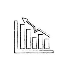 figure business statistic data growing diagram vector image