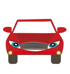 Car cartoon character vector