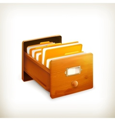 Open card catalog vector image