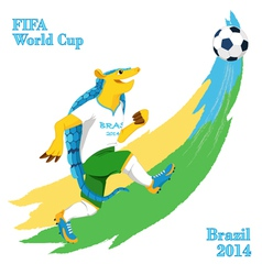 Armadillo playing football fifa world cup mascot vector
