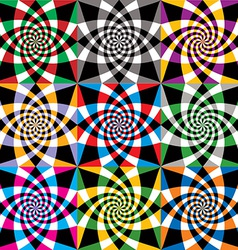 Spiral colorful whirls seamless pattern design vector