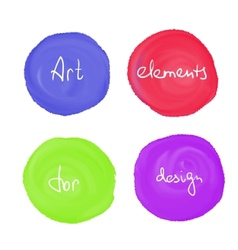 Circle paint drop set vector