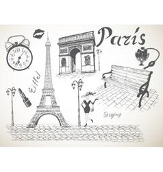 Retro poster of Paris vector image
