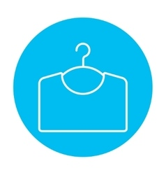 Sweater on hanger line icon vector