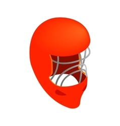 Goalkeeper hockey helmet isometric icon vector