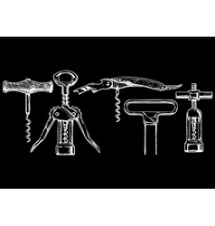 Set of corkscrews vector