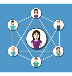 People design connection icon colorfull vector