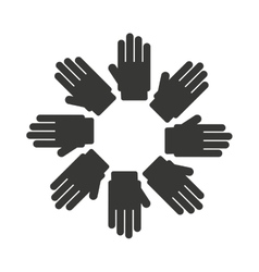 Hands symbol diversity isolated icon design vector