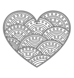 abstract love heart with ornament of circles page vector image