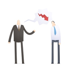 Angry boss with employee vector
