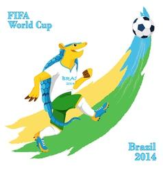 Armadillo playing football fifa world cup mascot vector