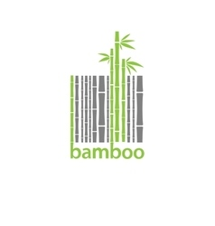 Bamboo logo symbol stylized as barcode vector